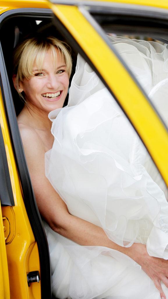 New York Hochzeit Taxi Hochzeitsfotografie