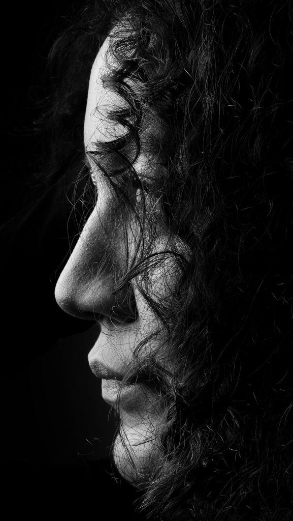 Scherenschnitt Portraitfotografie
